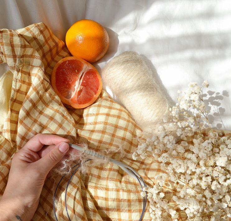 arancia e mani