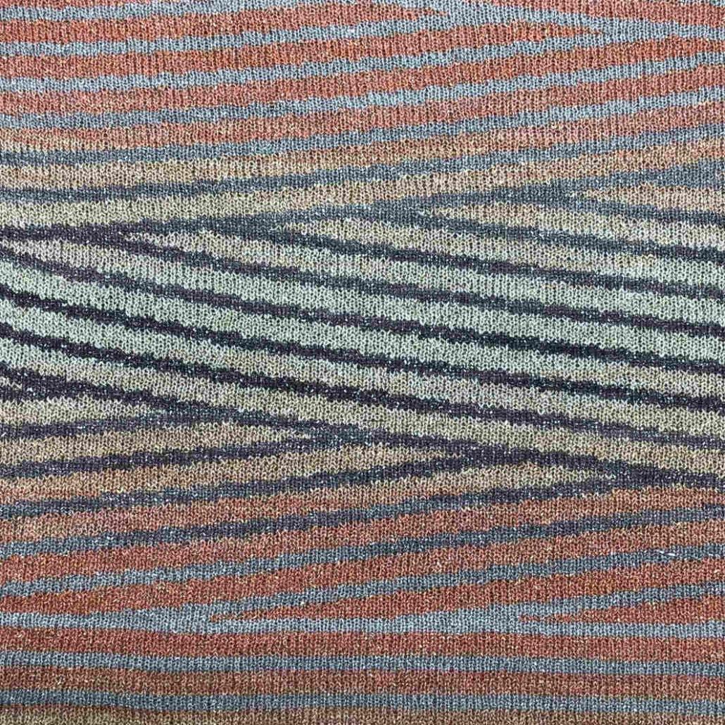 Drin Flame filato yarn viscosa viscose stampato printed lurex stitch