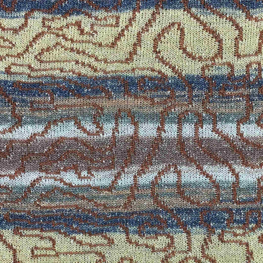 Drin Six filato yarn viscosa viscose stampato printed lurex stitch 1