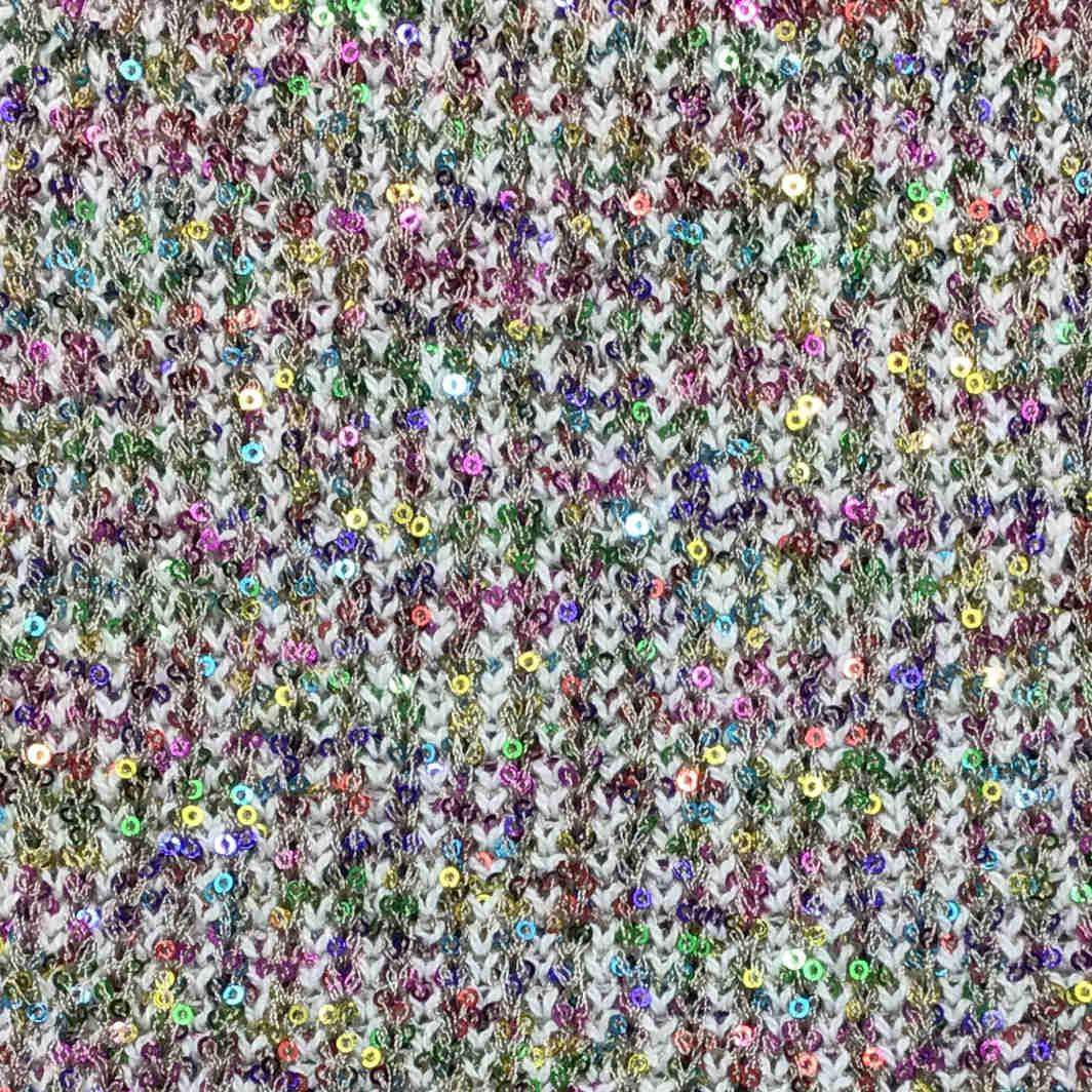 Fantasia filato yarn paillettes sequins multicolor stitch